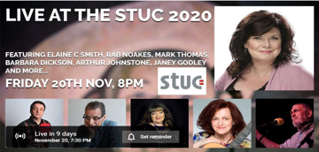 Advert for Live at the STUC.  Clicking will take you to email address to request tickets
