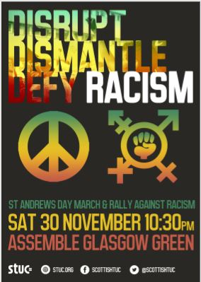 St Andrews Day March and Rally Poster