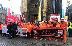 GMB and Unite workers campaigning for work at BiFab
