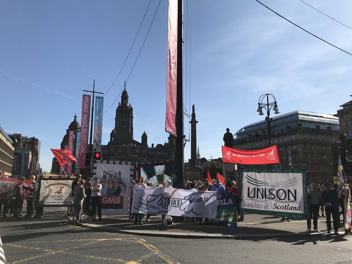 Glasgow: Trade unions supporting Climate Strike