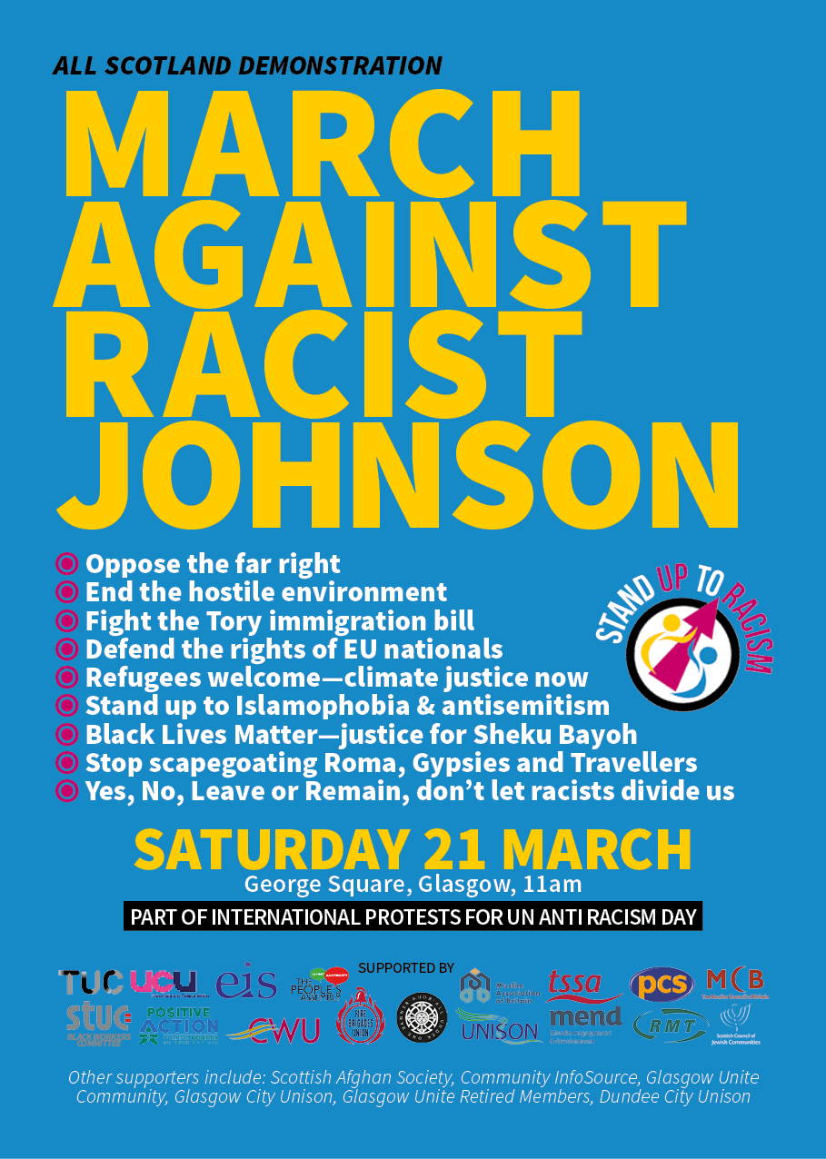 Stand Up to Racism leaflet